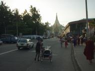 Asisbiz Yangon Gyar Tawya St facing Shwe Dagon street scenes Myanmar Oct 2004 01