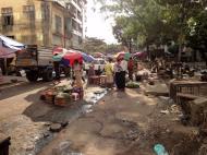 Asisbiz Yangon Hledan street market venders Myanmar 2009 01
