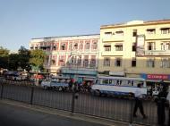 Asisbiz Yangon Sule pagoda street buildings Myanmar Jan 2010 02