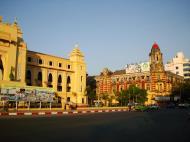 Asisbiz Yangon colonial architecture Sule and Dalhousie St 2010 03