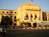 Asisbiz Yangon colonial architecture Sule pagoda Rd Maha Bandula Rd Yangon City Hall 2010 03