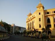 Asisbiz Yangon colonial architecture Sule pagoda Rd Maha Bandula Rd Yangon City Hall 2010 04