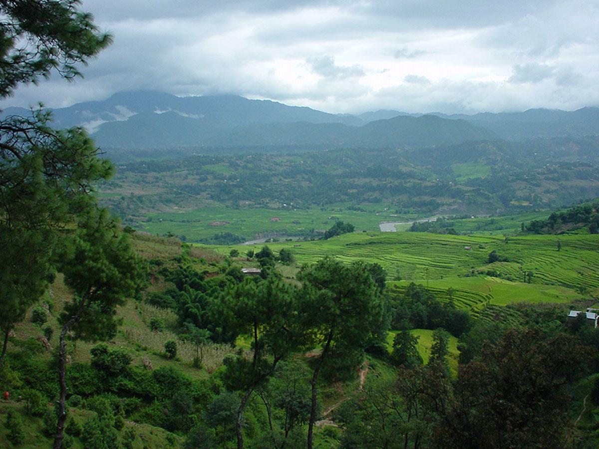 Nepal Kathmandu Valley area views Sep 2000 03