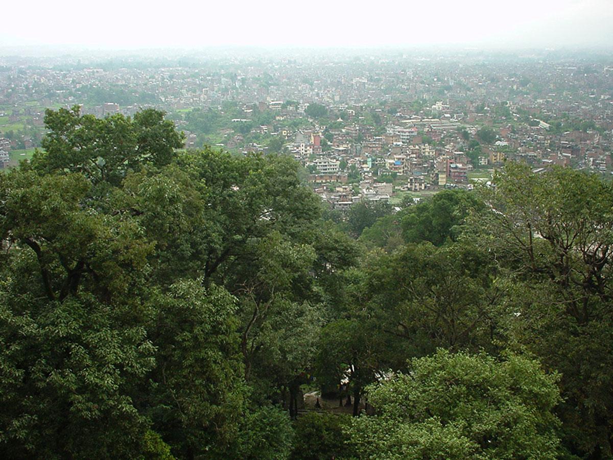 Swayambhunath temple monkey pagoda Kathmandu Sep 2000 22