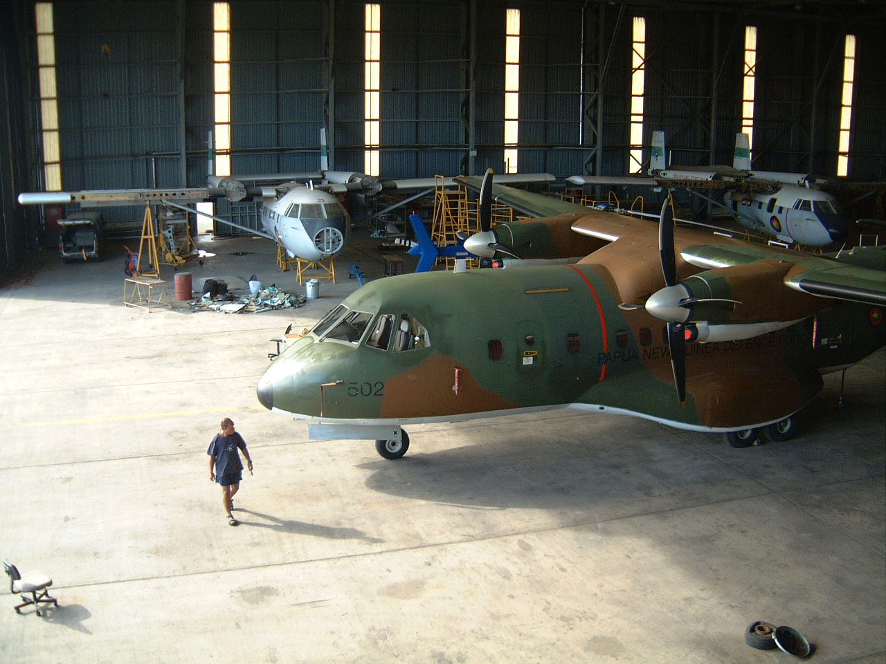 PNG Defence Force Hangar Jacksons Airport Sep 2002 04
