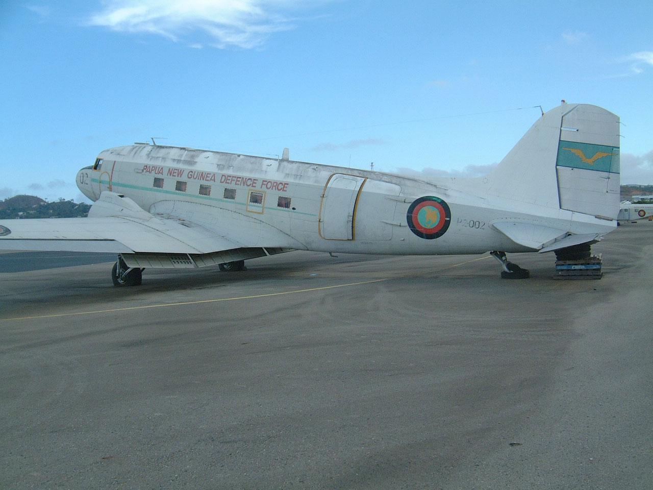 PNGDF C 47 P2 002 ex USAAF 44 76545 Derelict Jacksons Airport Sep 2002 01