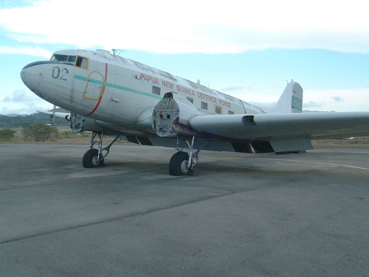 PNGDF C 47 P2 002 ex USAAF 44 76545 Derelict Jacksons Airport Sep 2002 02