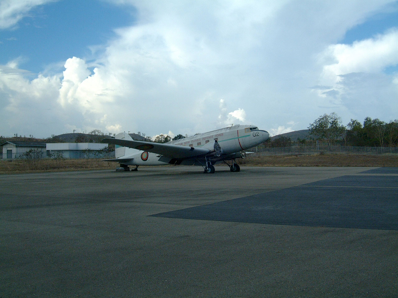 PNGDF C 47 P2 002 ex USAAF 44 76545 Derelict Jacksons Airport Sep 2002 03
