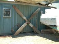 Asisbiz PNG Museum P 47 Thunderbolt propellor Sep 2002 01