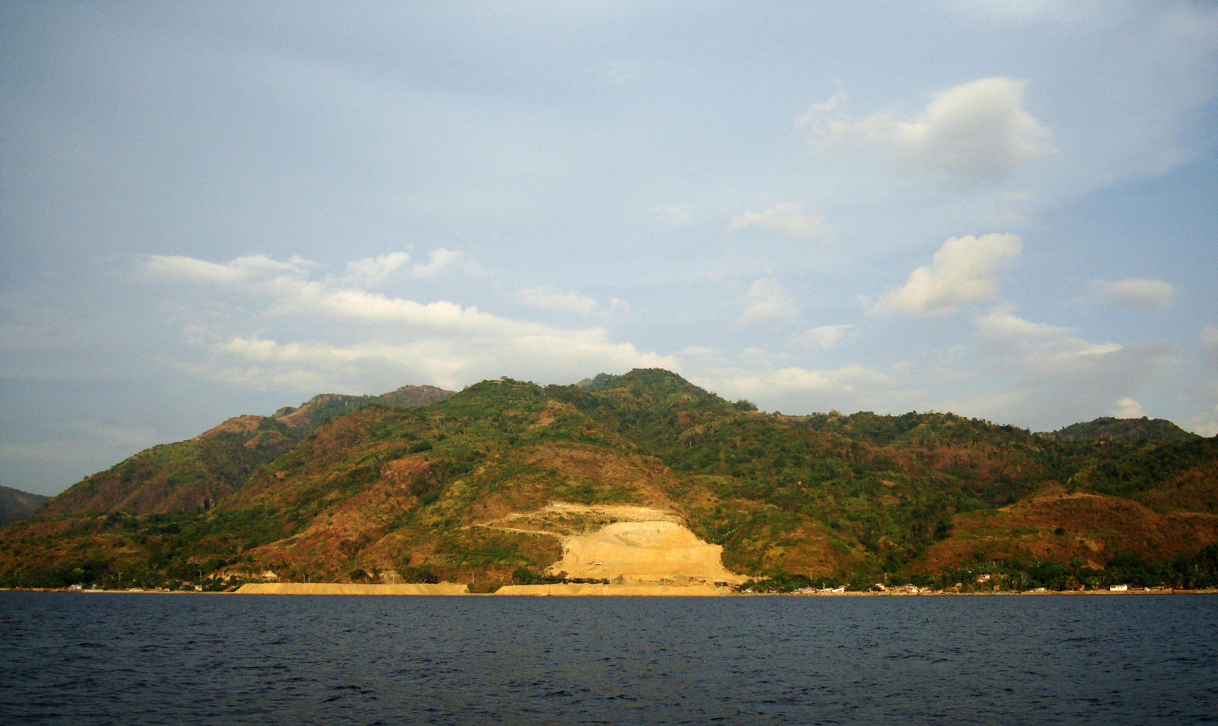 Bagalangit Point Virgin Mary Calumpan Peninsula viewed from a banca Anilao Batangas 01