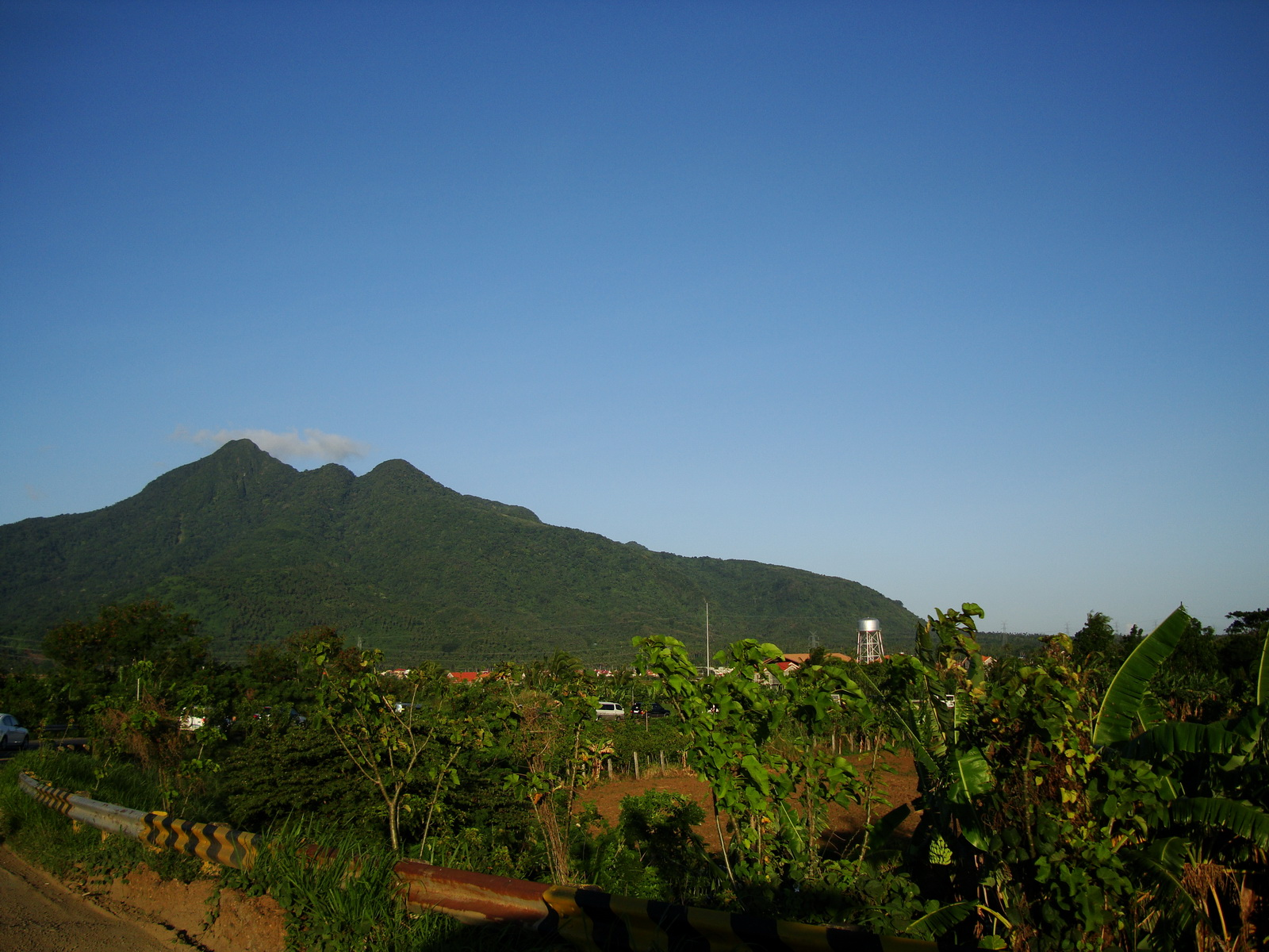 The old Batangas highway toll exit with Mount Mlepunyo in the background Philippines 01