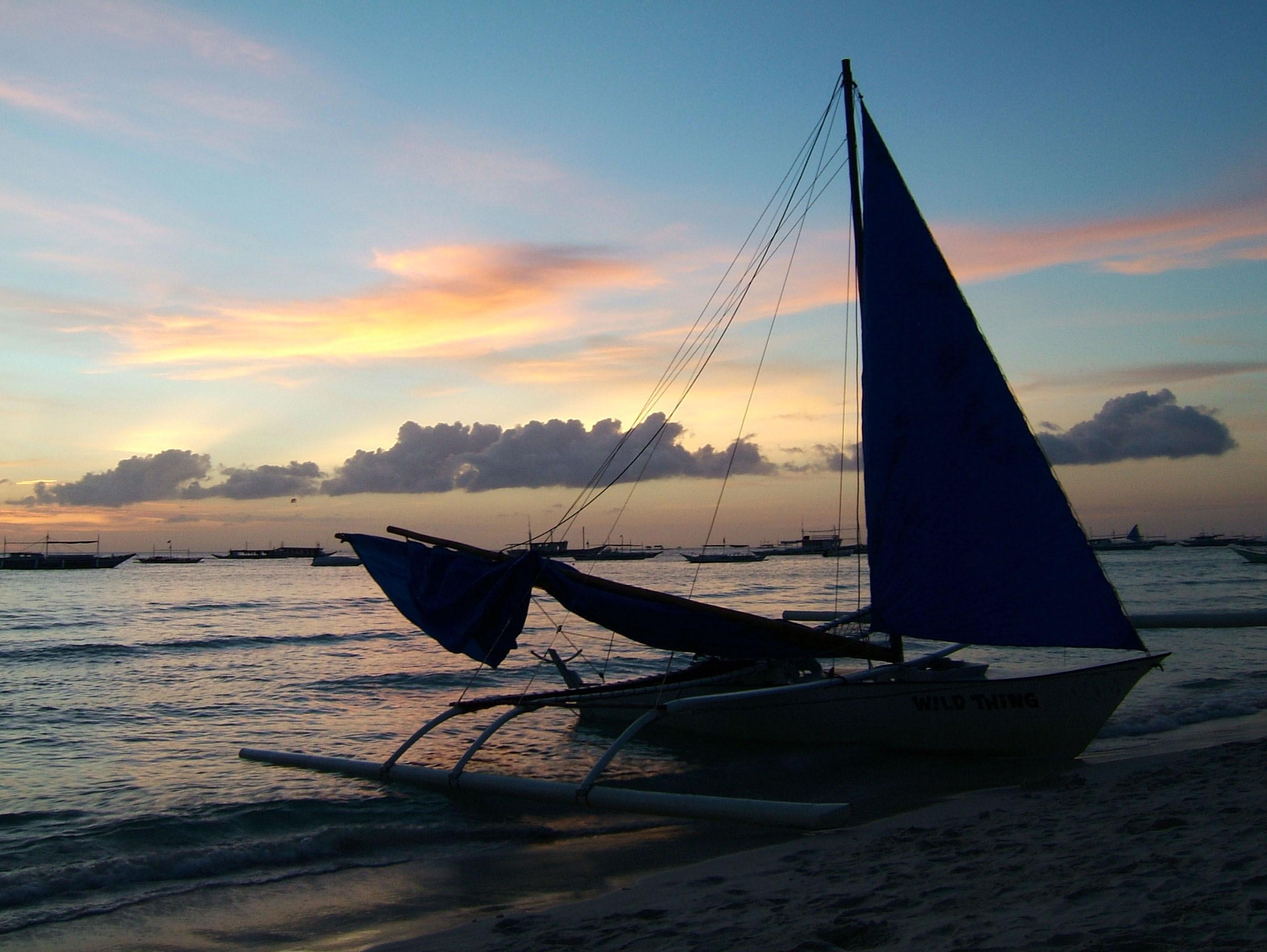 Philippines Panay Negros Caticlan Boracay White Beach Sunset Dec 2003 04