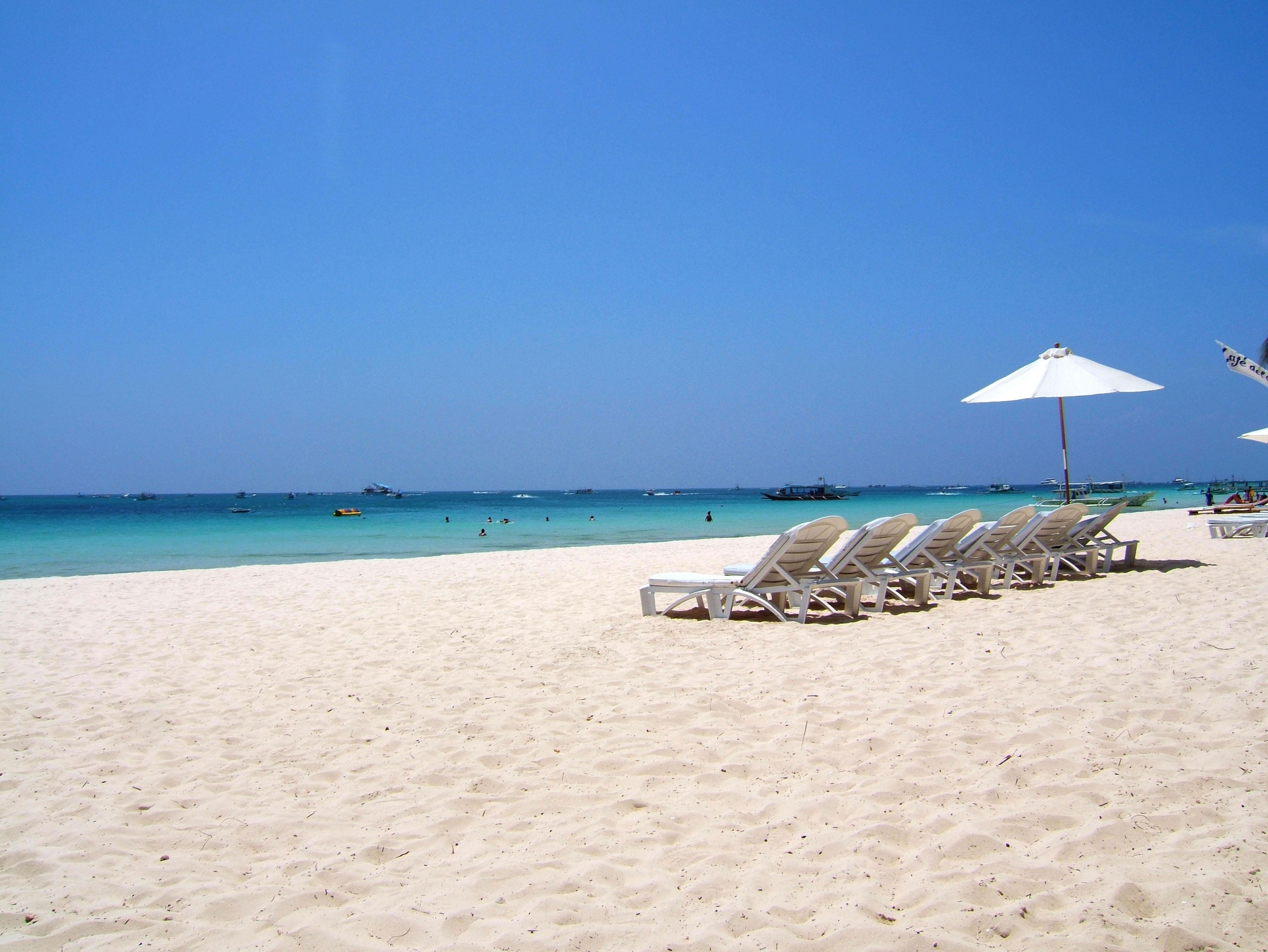 Philippines Panay Negros Sugar Islands Caticlan Boracay Beach Chairs 200604 02