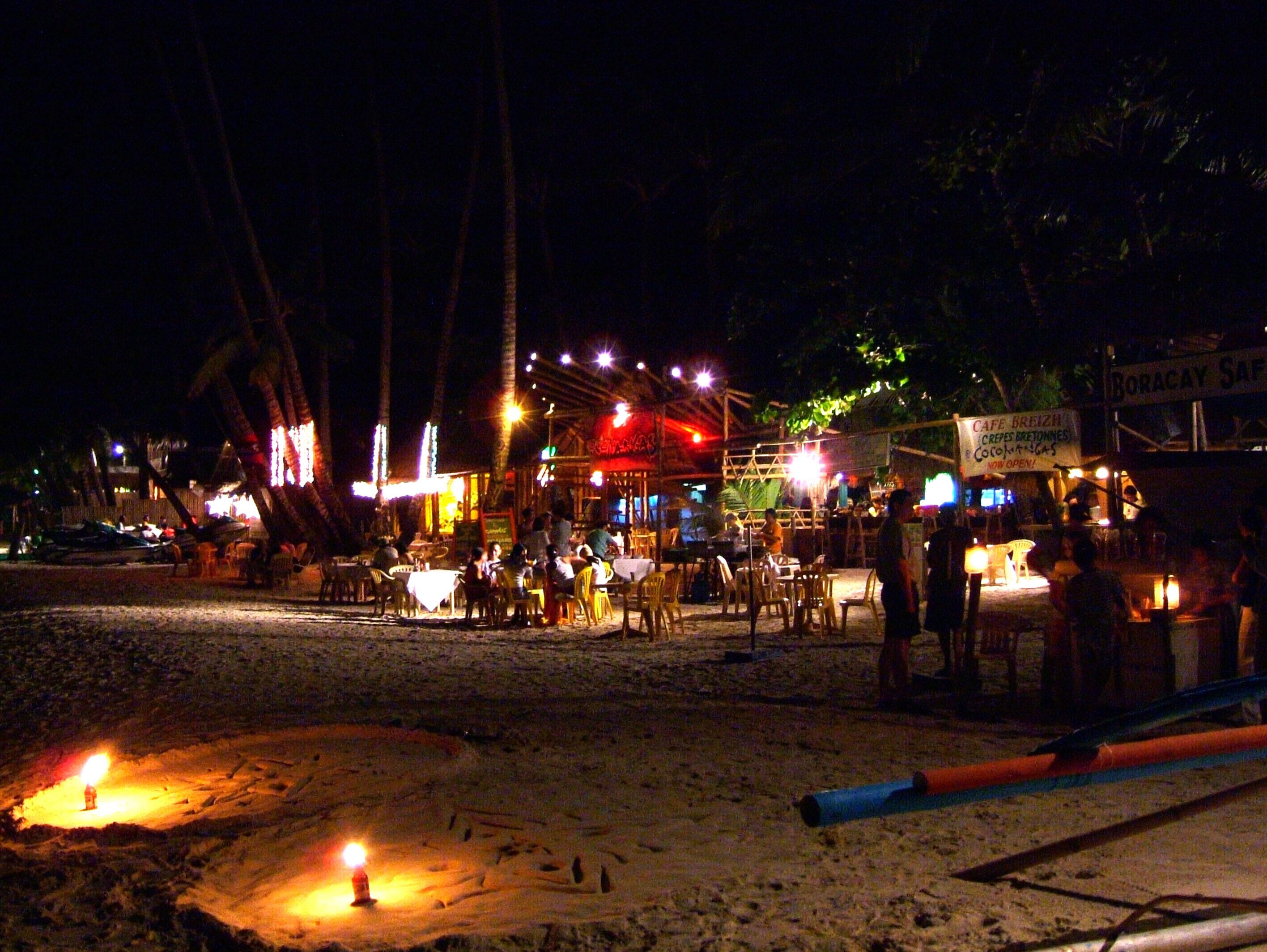 Philippines Sugar Islands Caticlan Boracay White Beach Night Life Dec 2003 05