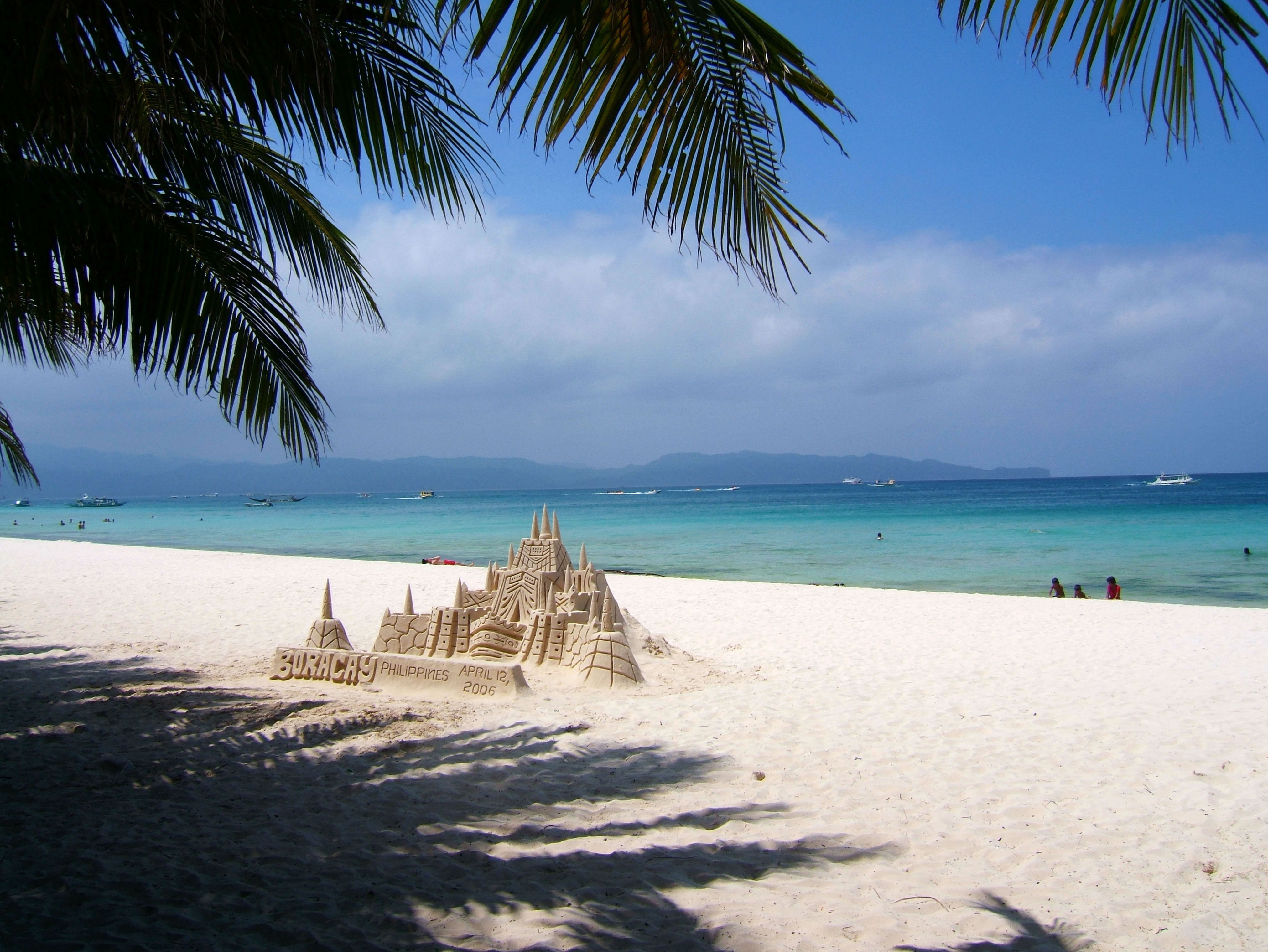 Philippines Sugar Islands Caticlan Boracay White Beach Sand Castles 2006 04