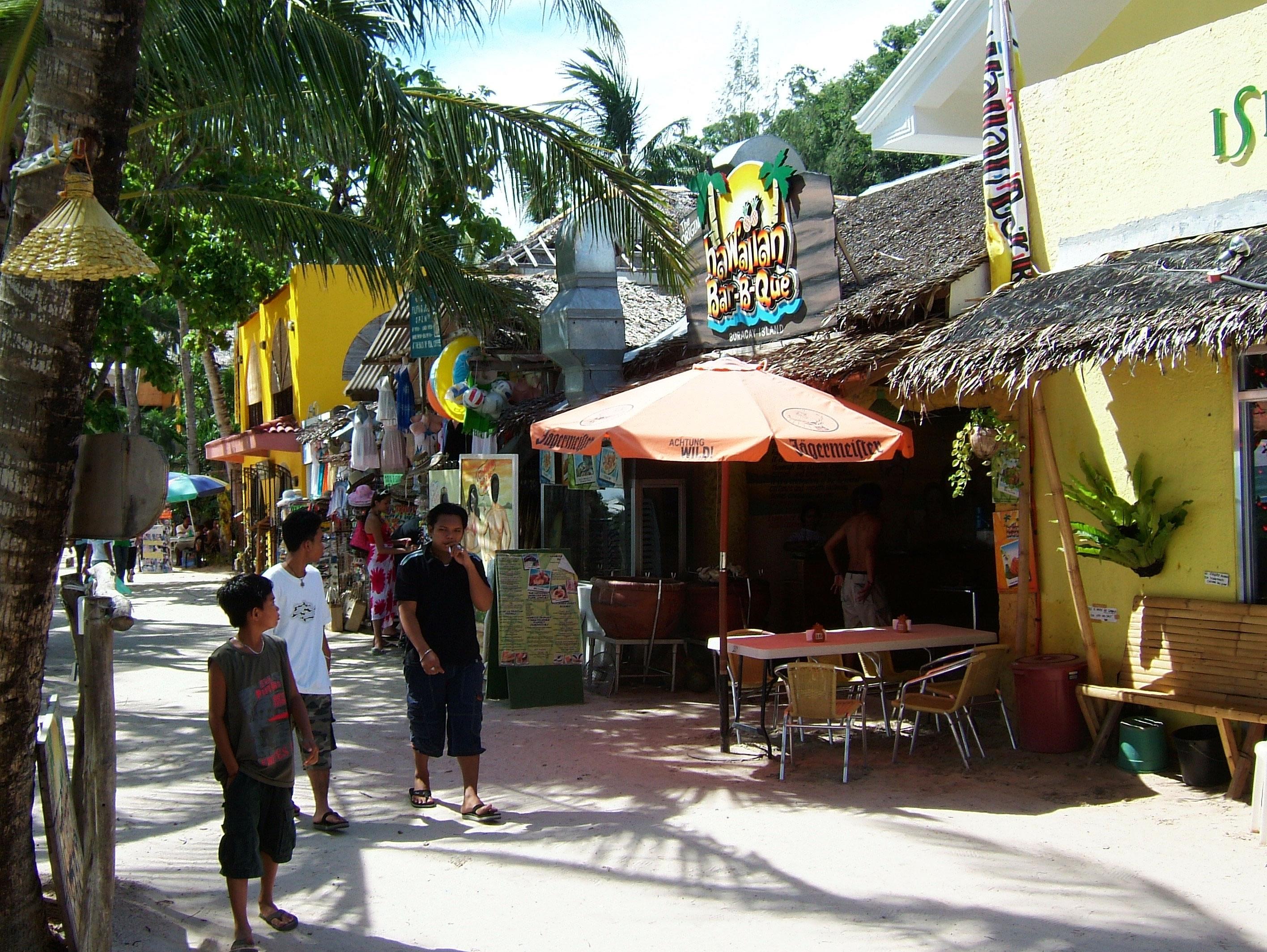 Philippines Sugar Islands Caticlan Boracay White Beach Shops and Bars 2007 02