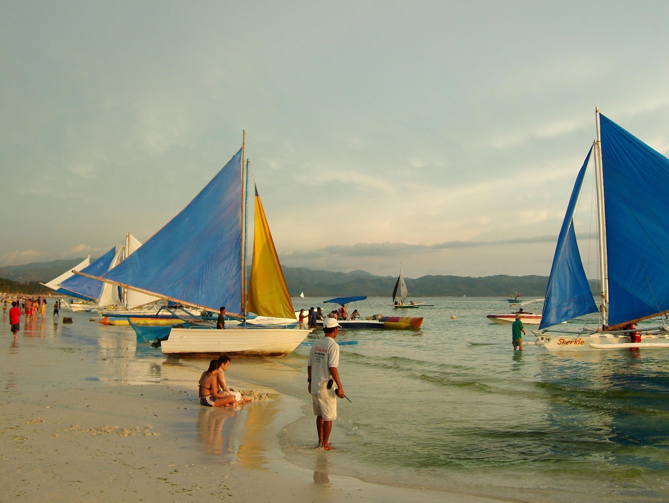 Philippines Sugar Islands Caticlan Boracay White Beach Sunset 2007 11