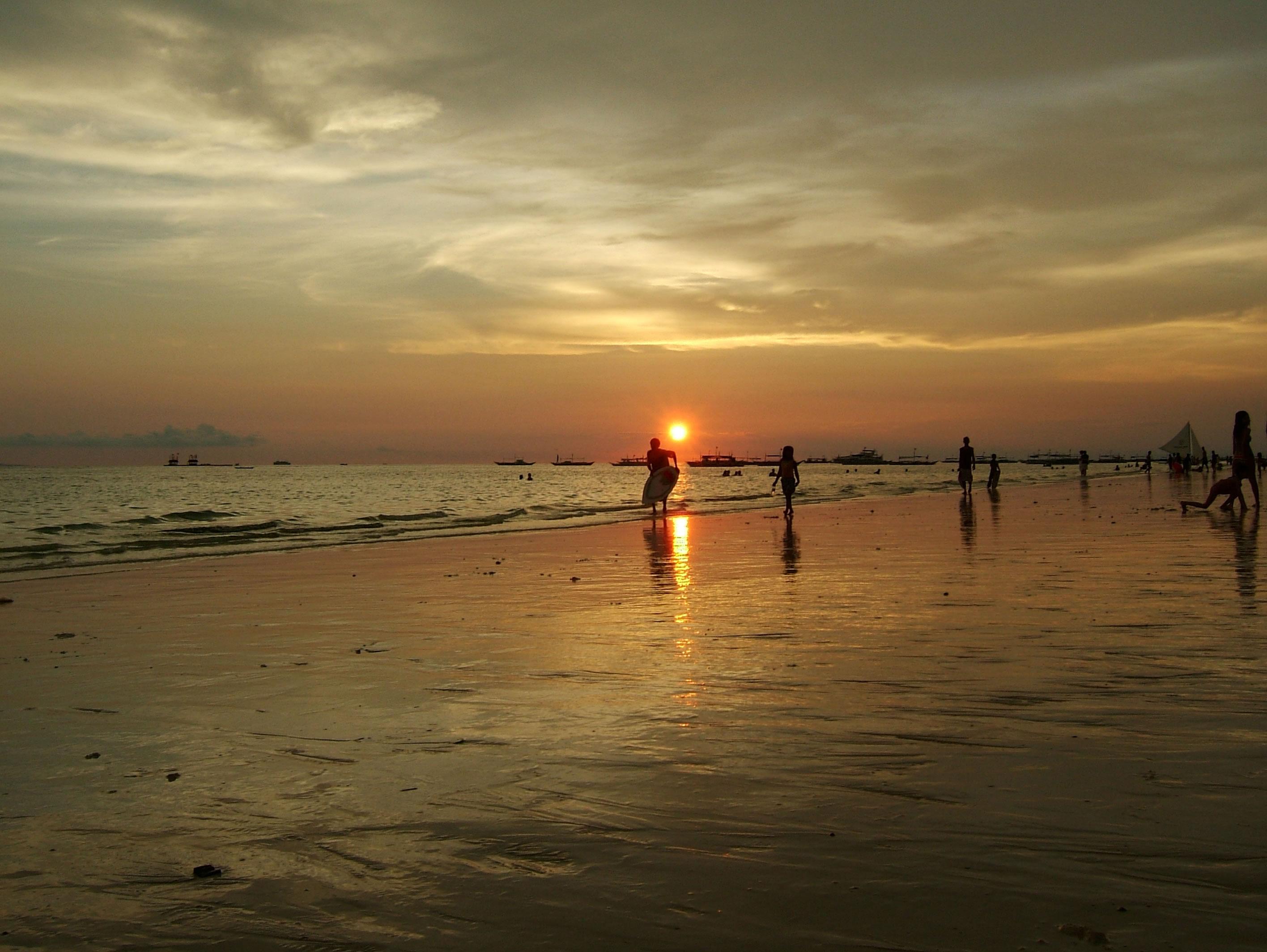 Philippines Sugar Islands Caticlan Boracay White Beach Sunset 2007 20