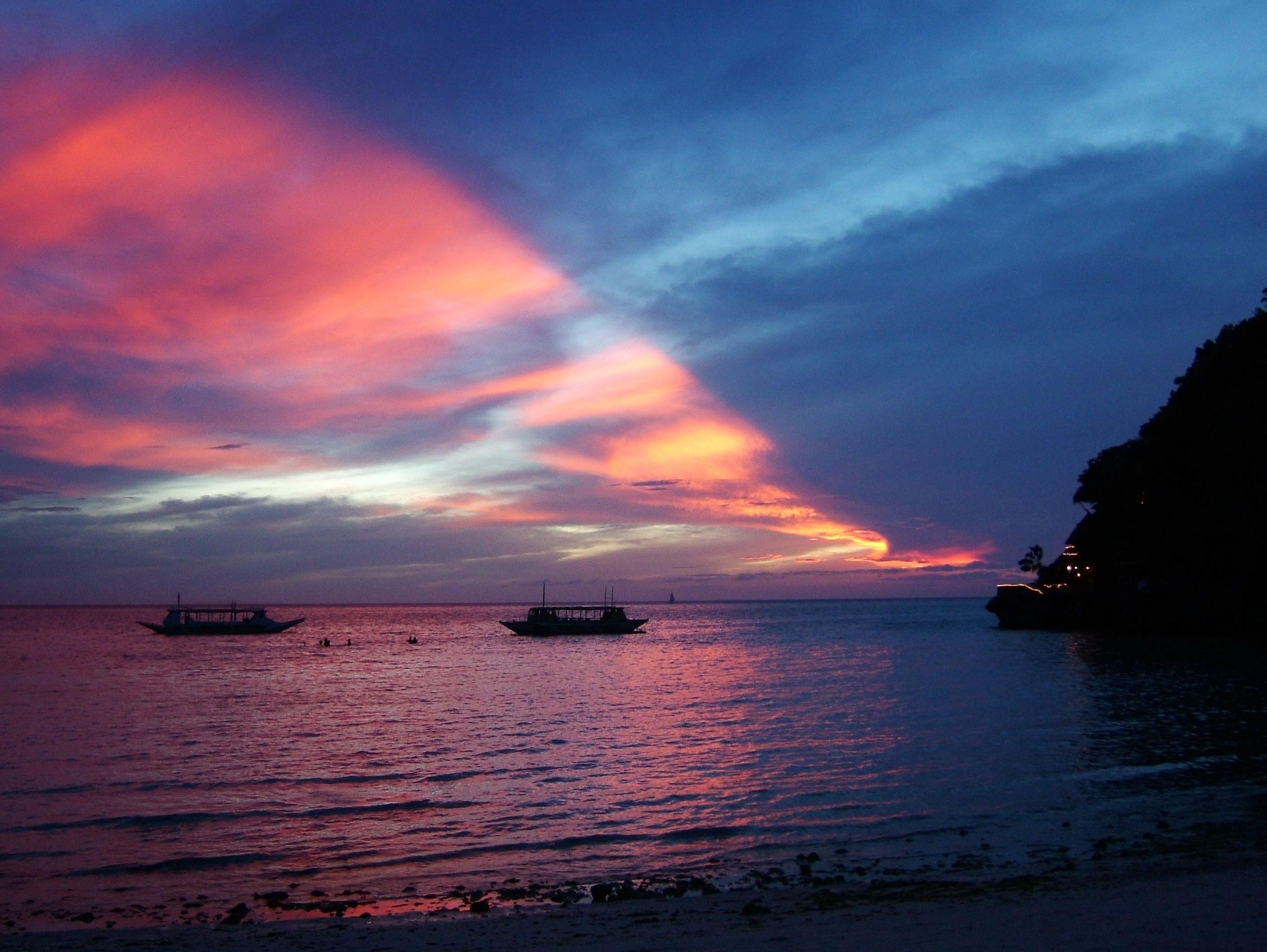 Philippines Sugar Islands Caticlan Boracay White Beach Sunset 2007 54