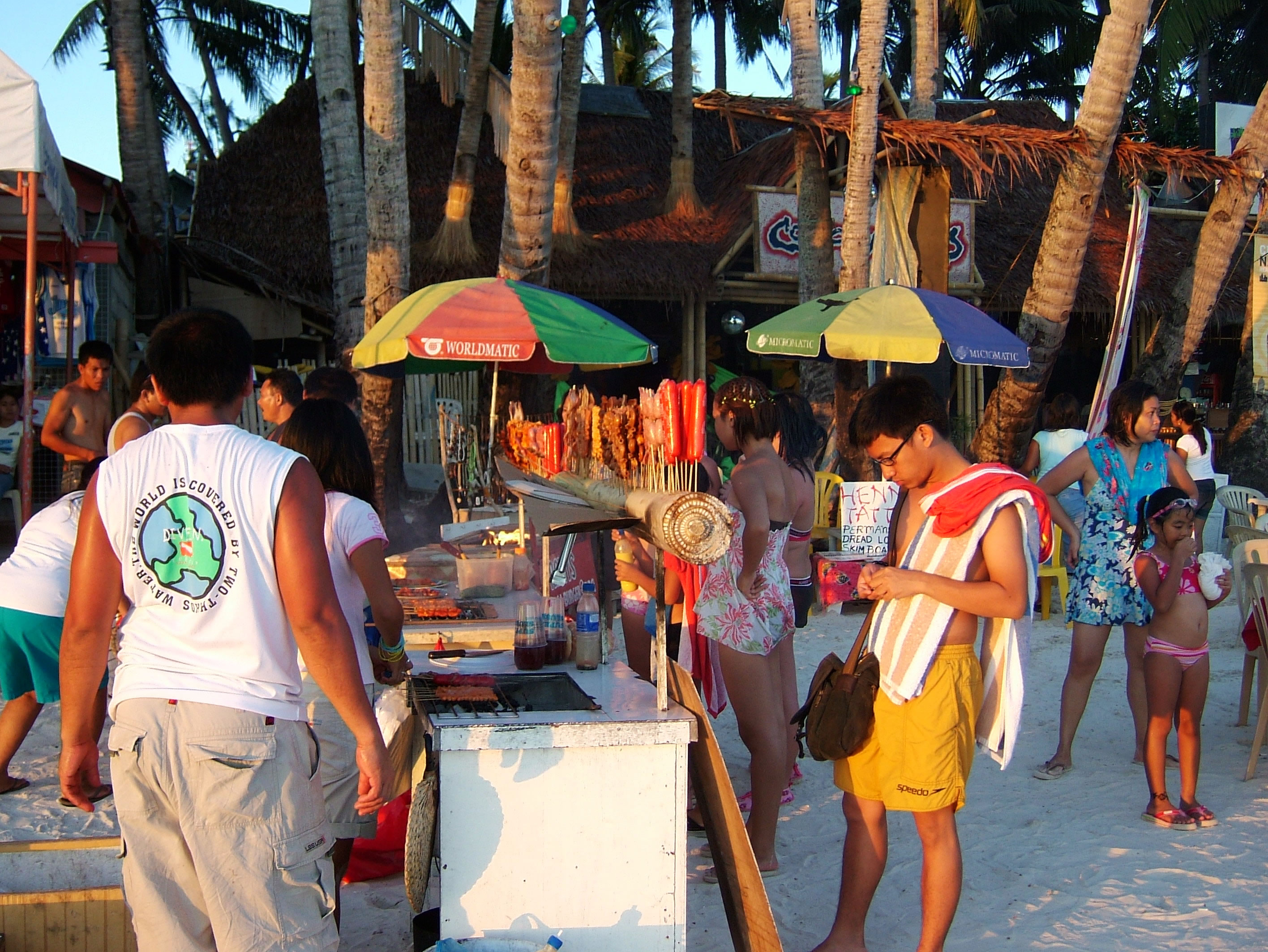 Philippines Sugar Islands Caticlan Boracay White Beach Sunset May 2007 15