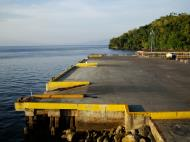 Asisbiz Calapan Port viewed from the Batagas ferry top deck Oriental Mindoro Philippines 2009 05