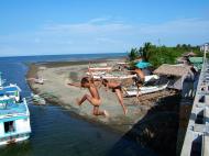 Asisbiz Kids diving of Naujan Estrella bridge Oriental Mindoro Philippines Feb 2006 26