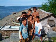 Asisbiz Kids diving of Naujan Estrella bridge Oriental Mindoro Philippines Feb 2006 51
