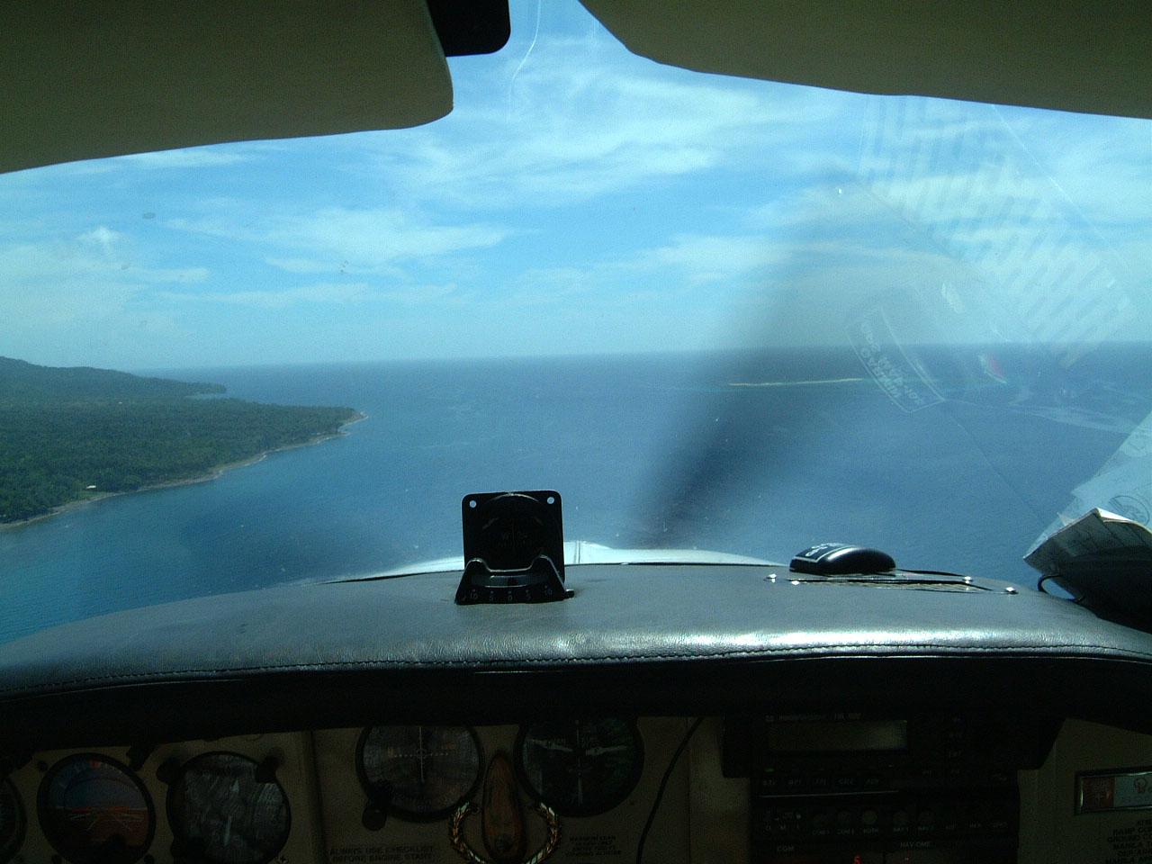 Philippines Chemtrad Manny Barradas overflying Camiguin Island Mar 2003 01