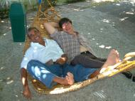 Asisbiz Philippines Chemtrad Manny Barradas right relaxing Mar 2003 01