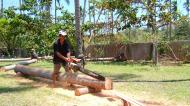 Asisbiz Step by step guide on how to cut straight using chainsaw to produce coco lumber Philippines 09