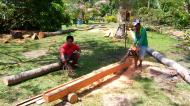 Asisbiz Step by step guide on how to cut straight using chainsaw to produce coco lumber Philippines 10