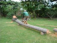 Asisbiz Turning logs into useful lumber beams note the safety equipment but what skill Tabinay Philippines 02
