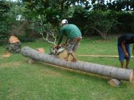 Asisbiz Turning logs into useful lumber beams note the safety equipment but what skill Tabinay Philippines 04