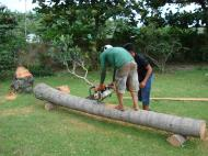Asisbiz Turning logs into useful lumber beams note the safety equipment but what skill Tabinay Philippines 05