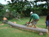 Asisbiz Turning logs into useful lumber beams note the safety equipment but what skill Tabinay Philippines 06