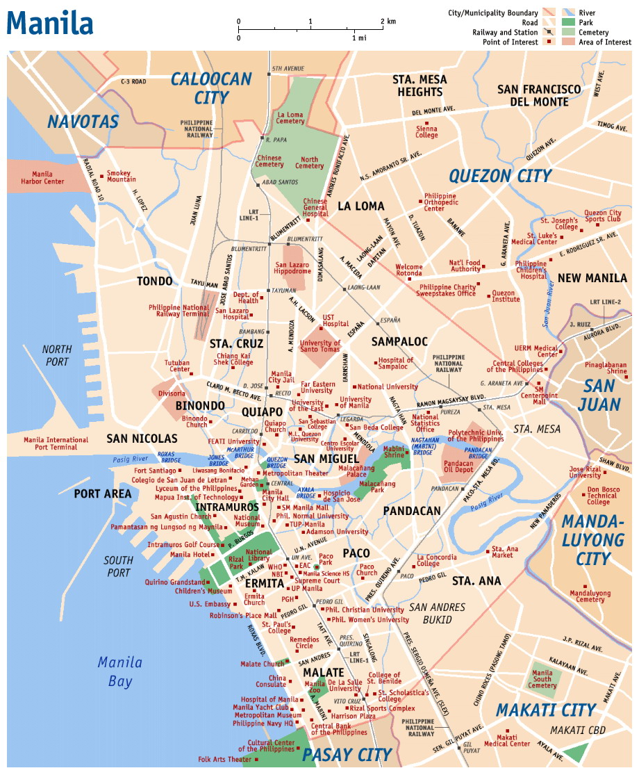 0 Map Manila Street Map
