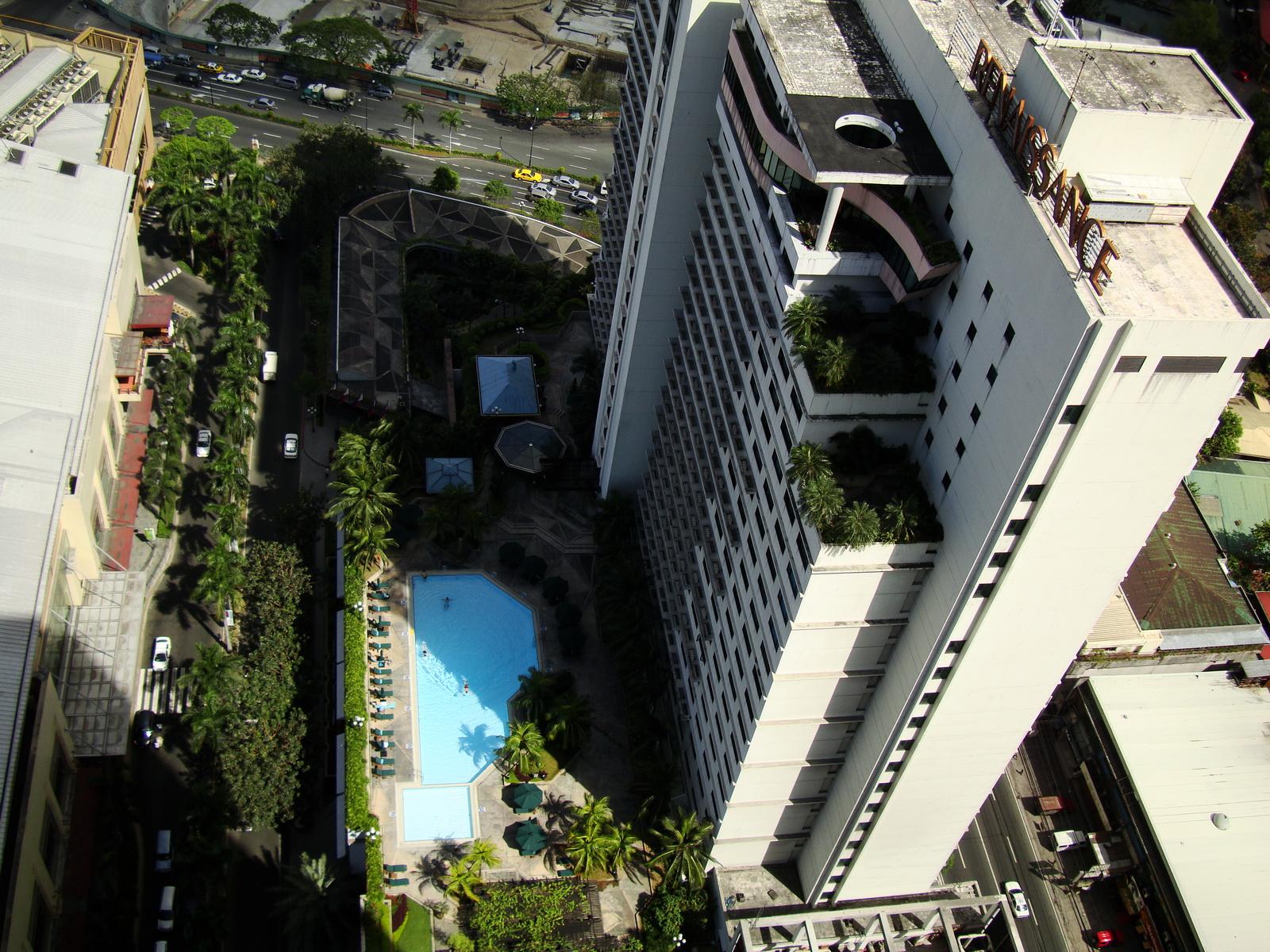 Philippines Manila Makati Renaissance Hotel Swimming Pool Feb 2009 01