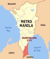 Asisbiz 0 Map Metro Manila showing the ocation of Muntinlupa City