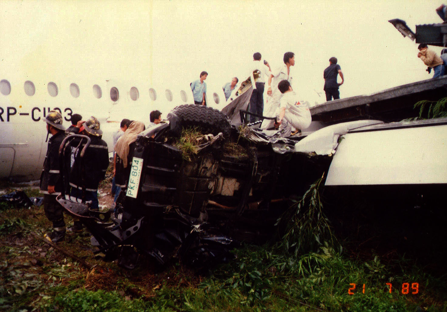 Philippine Airlines Accident RP C1193 BAC 111 516FP 21 JUL 1989 03