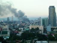 Asisbiz Philippines Roxas Triangle Makati Rockwell warehouse fire Dec 26 2004 01