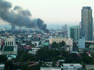 Asisbiz Philippines Roxas Triangle Makati Rockwell warehouse fire Dec 26 2004 03