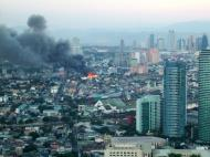 Asisbiz Philippines Roxas Triangle Makati Rockwell warehouse fire Dec 26 2004 06