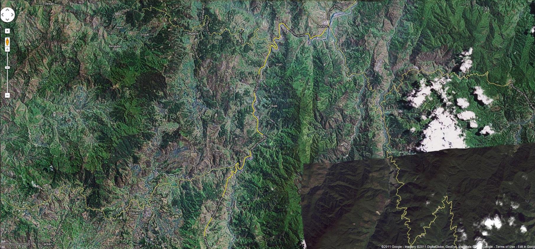 0 Satelite Map Sagada Mountain Province Northern