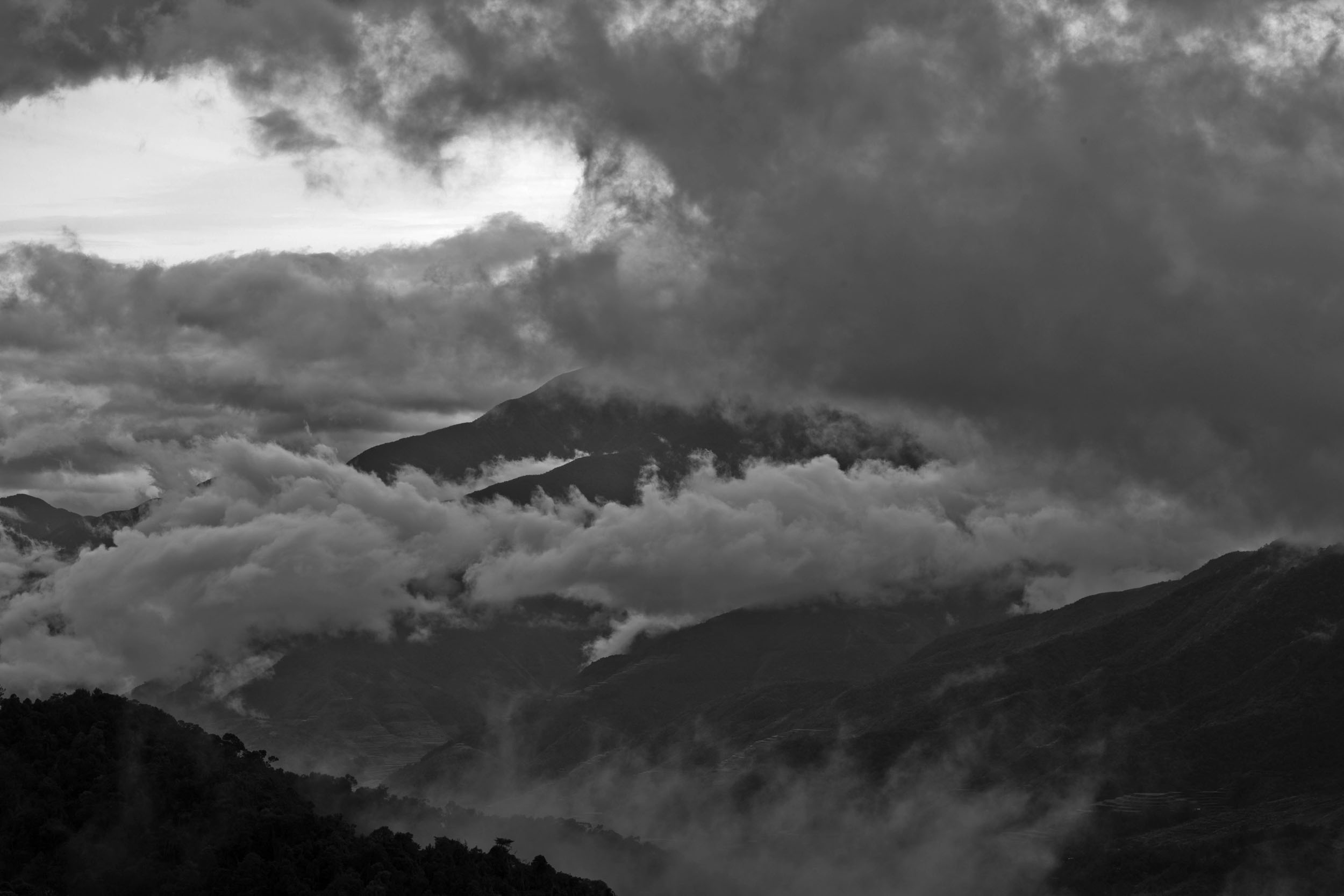 Four seasons in one day along the Kabayan Rd Halsema Highway from Baguio to Sagada Aug 2011 01