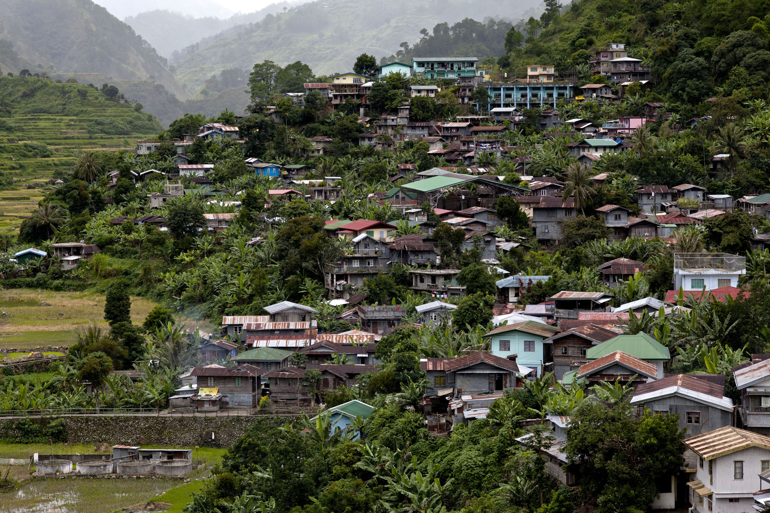 Local towns and villages along the Kabayan Rd Halsema Highway from Baguio to Sagada Aug 2011 08