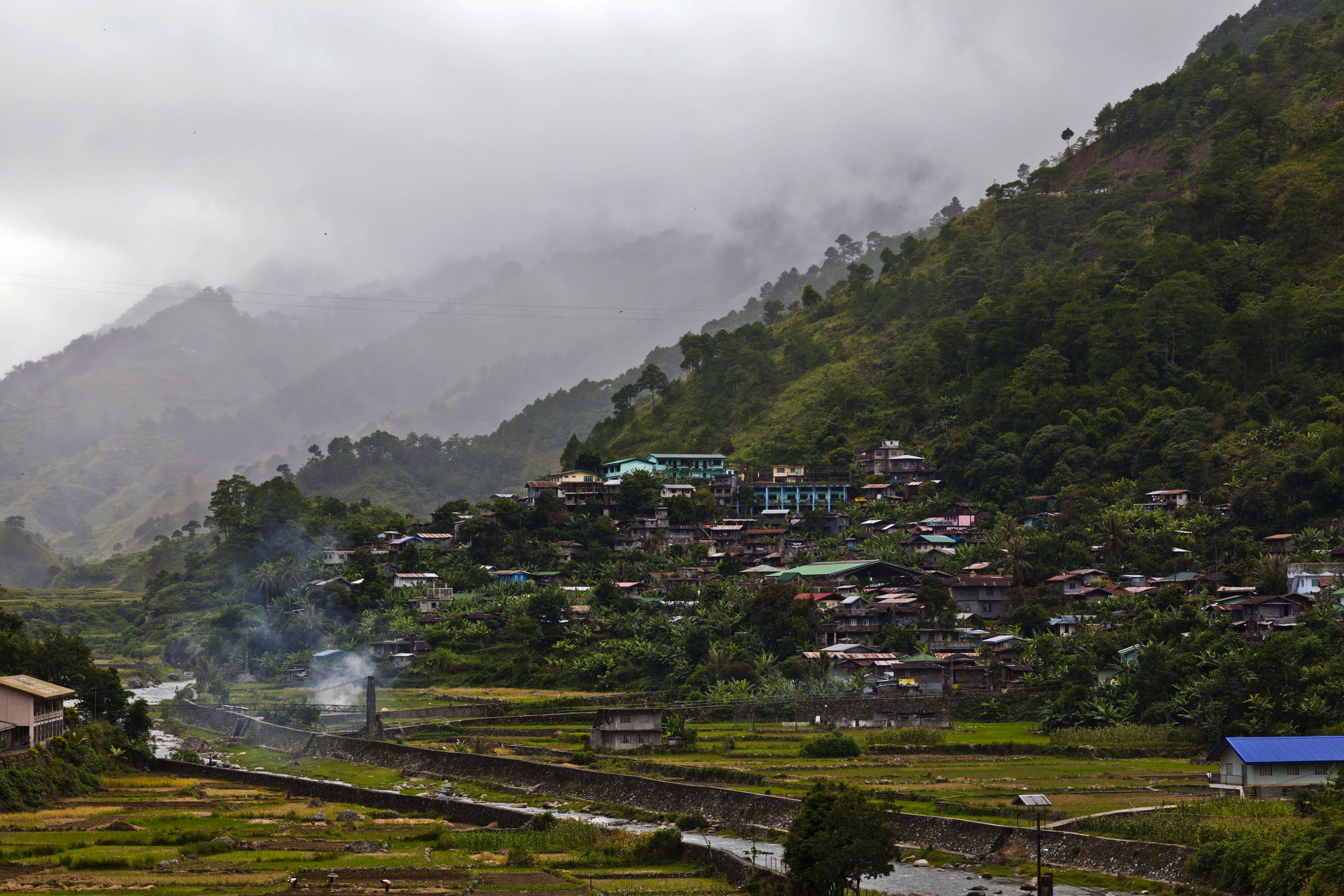 Local towns and villages along the Kabayan Rd Halsema Highway from Baguio to Sagada Aug 2011 13