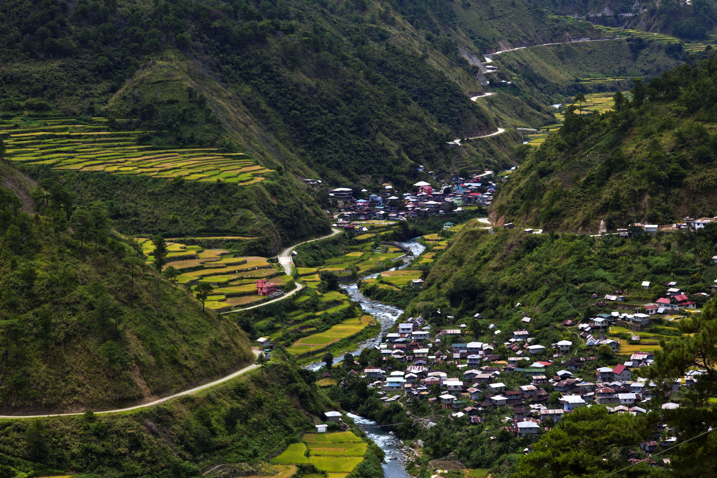 Panoramic views along the Kabayan Rd Halsema Highway from Baguio to Sagada Aug 2011 40