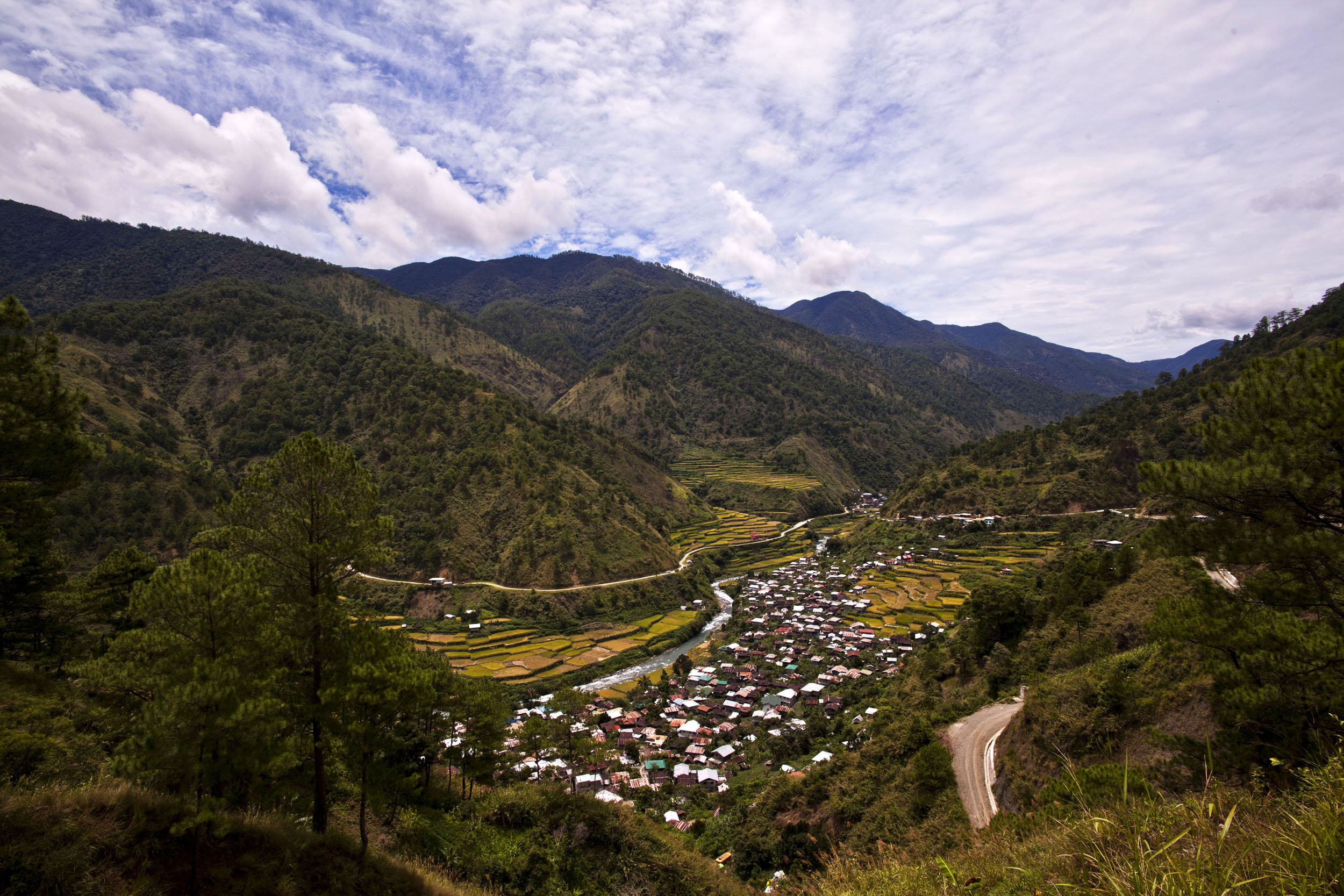 Panoramic views along the Kabayan Rd Halsema Highway from Baguio to Sagada Aug 2011 48