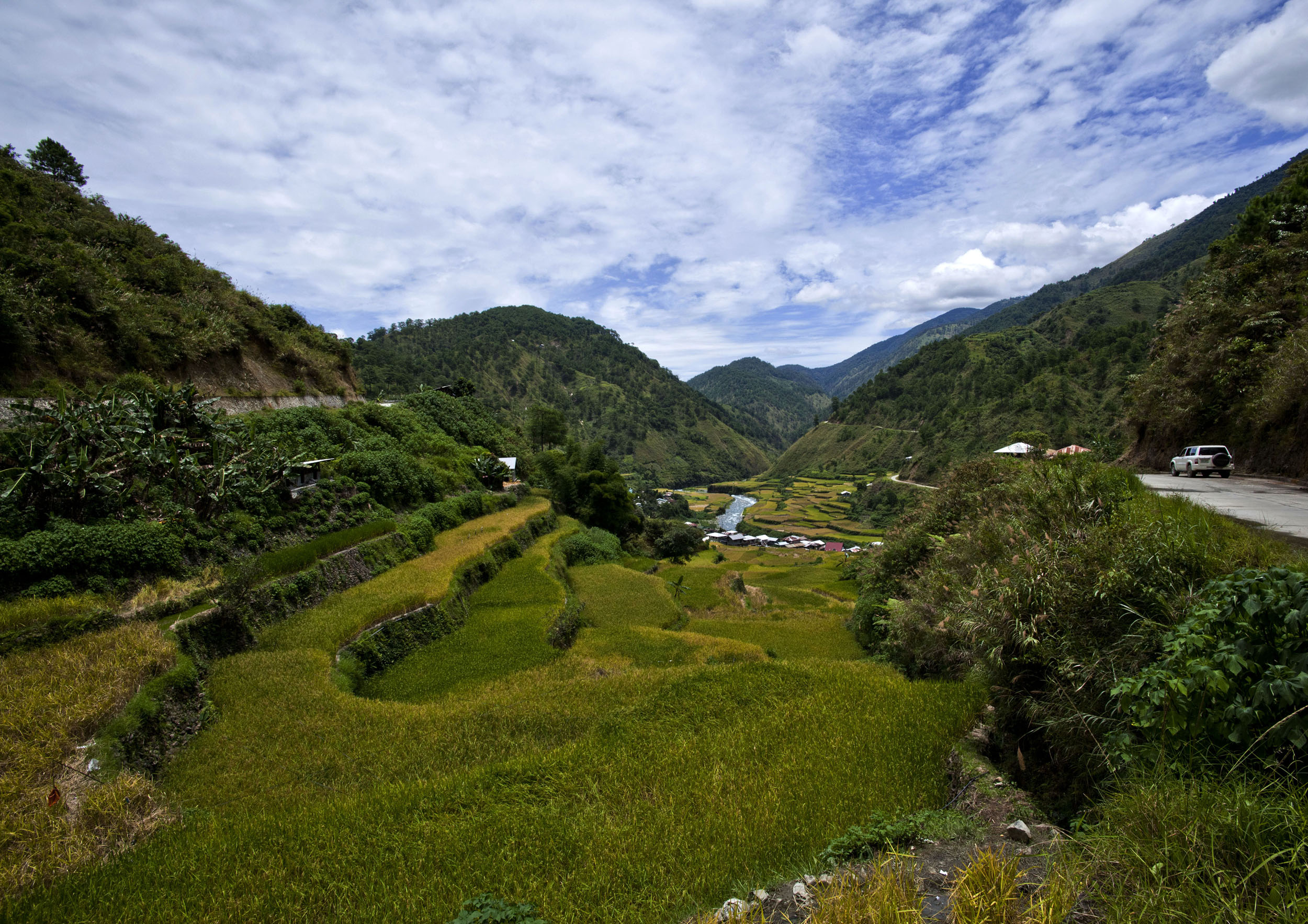 Panoramic views along the Kabayan Rd Halsema Highway from Baguio to Sagada Aug 2011 49