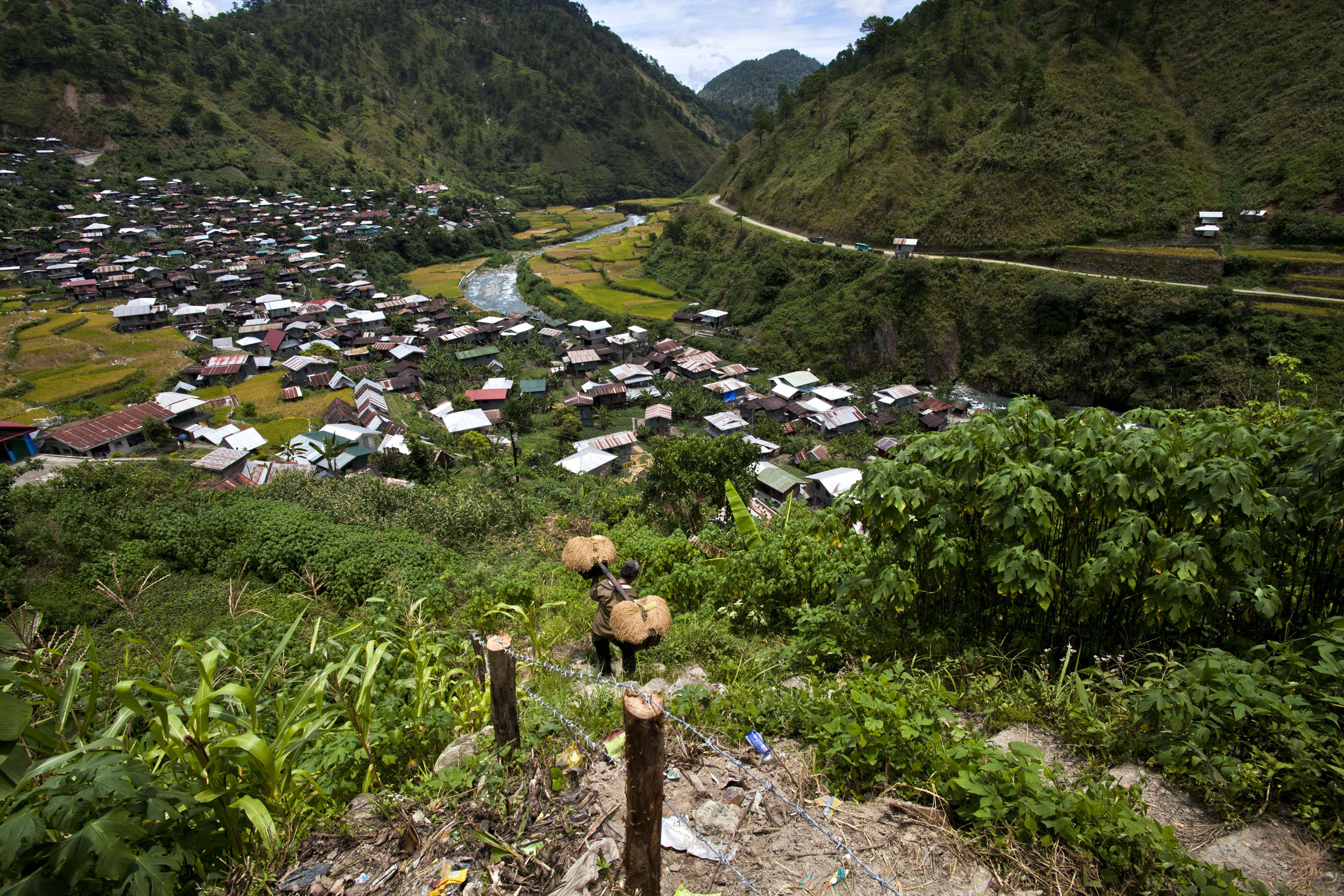 Panoramic views along the Kabayan Rd Halsema Highway from Baguio to Sagada Aug 2011 54